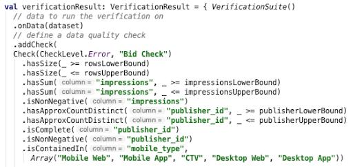 Deequ data check sample