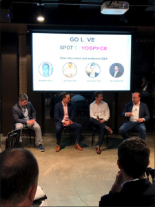 Panel discussion with Channel 9, SpotX, and Yospace at the Sydeny Go Live event about live video advertising