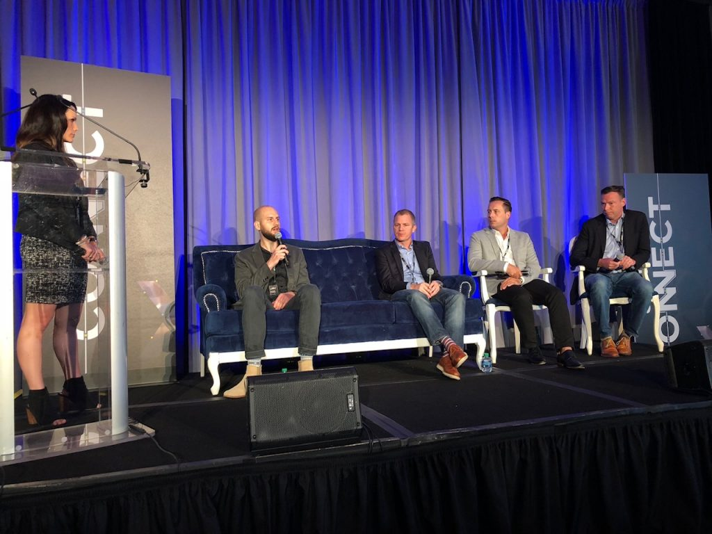 Kelly McMahon of SpotX leading a panel at SpotX Connect