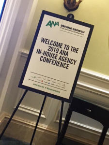 ANA In-House Conference welcome sign