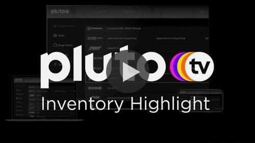 Pluto TV | SpotX Inventory Highlight