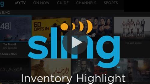 Sling TV | SpotX Inventory Highlight Video