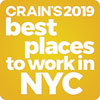 Crain's 2019 best places to work in NYC