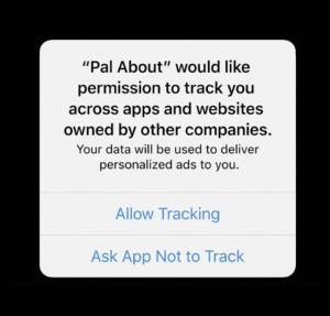 Apple, IDFA, consent, personalized ads